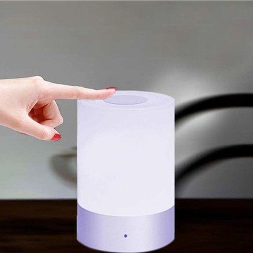 Bedside Lamp Sensitive Touch Sensor Smart Table Lamp Multi-Color Changing LED Table Lamp for Bedroom Decor Nightlight