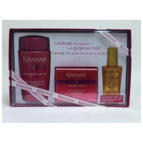 Kerastase Bain Chroma Captive Shampoo 8.5 & Masque 6.8 & Elixir Ultime Serum 1.7