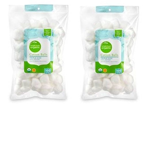Simple Truth Organic Cotton Balls 100 count (2 pack)