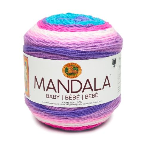 Lion Brand Yarn Mandala Baby Unicorn Cloud 526-209 Baby Cake Yarn Unicorn Cloud