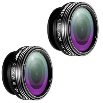 Neewer 2 Pieces 3-in-1 Clip-on Lens Kit for Android Tablet, ipad and Smartphones
