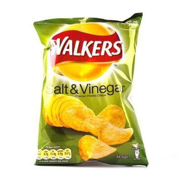 Walkers Crisps Salt and Vinegar x 48 1656g
