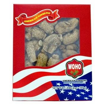 WOHO #109.4 Short Jumbo American Ginseng Roots 4oz Box