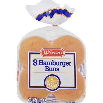 J.J. Nissen Hamburger Buns, 8 count, 12 oz