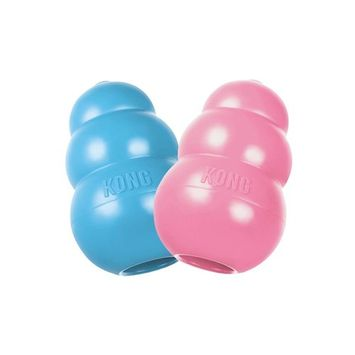 KONG PUPPY KONG Durable Rubber Chew and Treat Toy ( Pack of 2 )