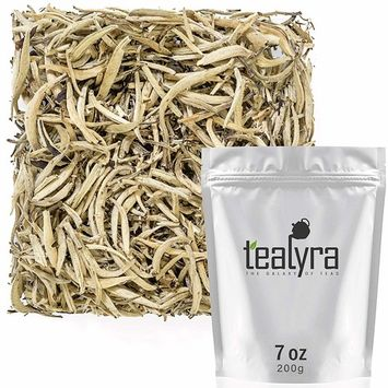 Tealyra - Imperial Yunnan Silver Needle - White Loose Leaf Tea - Organically Grown - Caffeine Level Low - 200g (7-ounce)