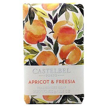 Castelbel Porto Apricot & Freesia Luxury Soap Bar 10.5 Oz