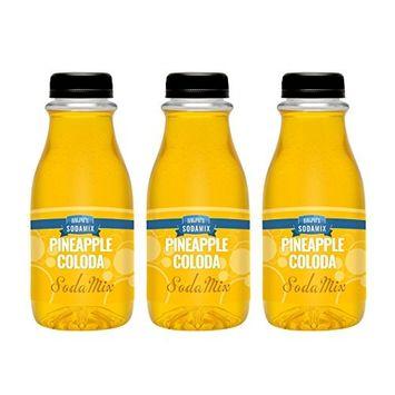 Ralph's Pineapple Colada Syrup Flavor Sodamix Three Pack   12oz Bottles