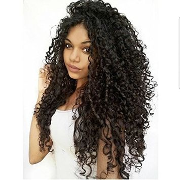Clip in Human Hair Extensions Brazilian Jerry Curly African 3C 4A Natural Black Hair Extensions