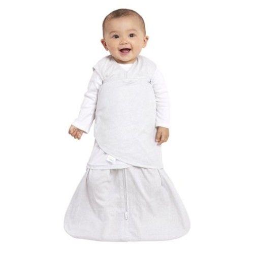 HALO Safe Dreams Swaddle, 100% Poly-Knit, Gray Tidbit Square, Newborn