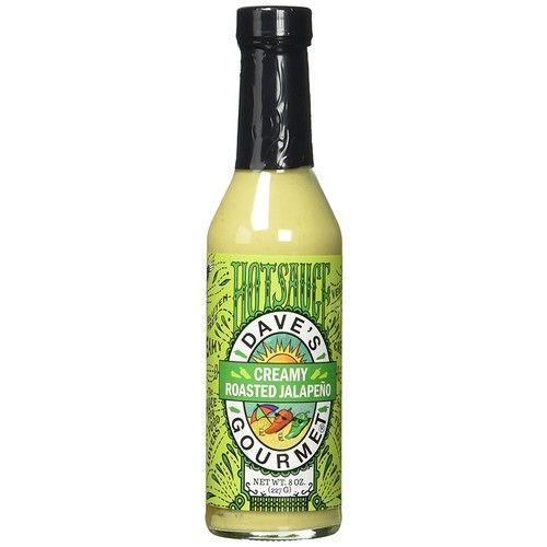 Dave's Gourmet Creamy Roasted Jalapeño Hot Sauce, one 8 oz bottle [Roasted Jalapeno]