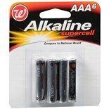 Walgreens Alkaline Supercell Batteries AAA