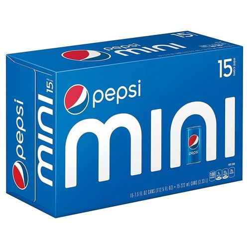 Pepsi Cola Mini Cans, 7.5oz Can (15-Pack)
