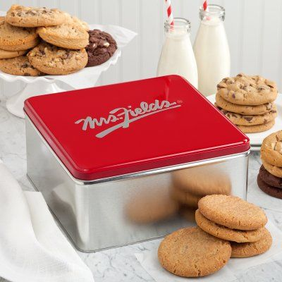 Mrs. Fields Classic Cookie Tin with Two Dozen Cookies