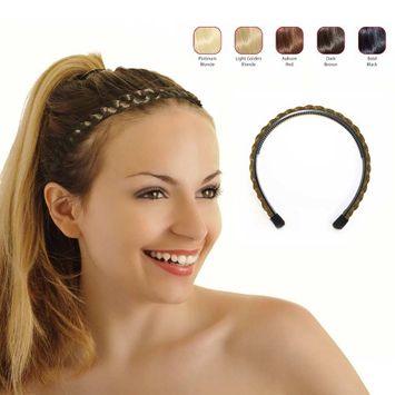 Buy 2 Hollywood Hair braided Alice Band get 1 Free - Light Golden Blonde (Pack of 3)