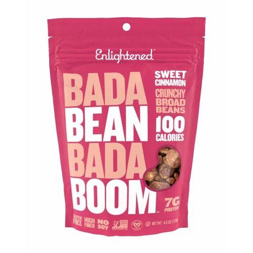 Enlightened Bada Bean Bada Boom Crunchy Broad Beans Snacks, Sweet Cinnamon, 4.5 Ounce (Pack of 12)
