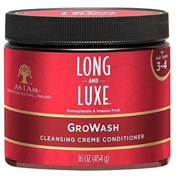 AS I AM LONG AND LUXE GRO WASH CLEANSING CREME CONDITIONER 16oz