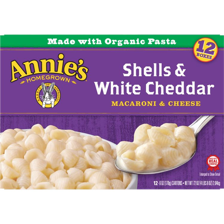 Annie's Shells and White Cheddar Macaroni and Cheese, 72 oz