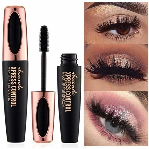 Euone Mascara , 4D Cosmetic Black Mascara Makeup Eyelash Waterproof Extension Curling Eye Lashes