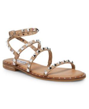 Steve Madden Women's Travel Rock Stud Flat Sandals