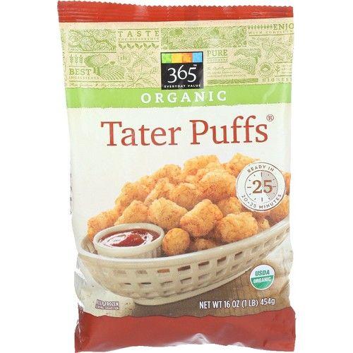 365 Everyday Value, Organic Tater Puffs, 16 oz, (Frozen)