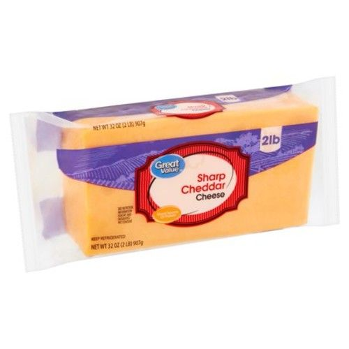 Great Value Sharp Cheddar Cheese, 32 oz