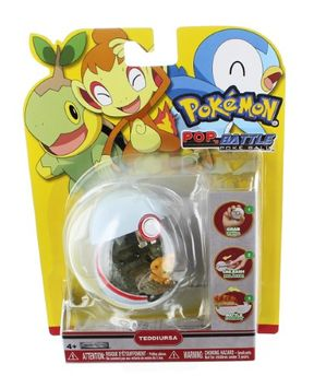 Jakks Pacific Pokemon Pop N Battle Pokeball Series 5 Teddiursa