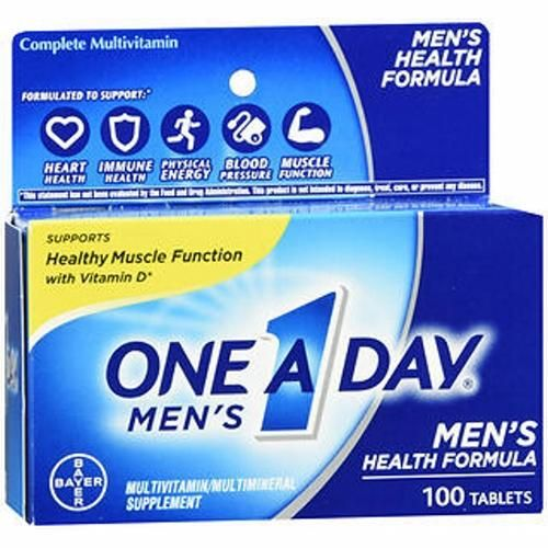 One A Day Men's Health Formula Multivitamin - Multimineral Tablets 100 Tabs by One-A-Day