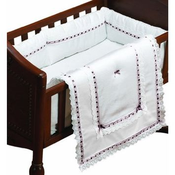 Baby Doll Bedding Royal Classic Cradle Bedding Set, Chocolate