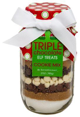 Sister's Gourmet Elf Treats Triple Chocolate Cookie Mix