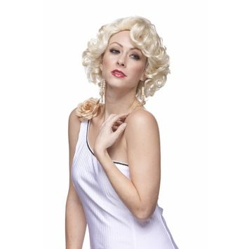 Sepia Costume Glamour Gal Synthetic Wig Blonde