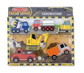 MELISSA & DOUG CONSTRUCTION CHUNKY PUZZLE (Set of 3)