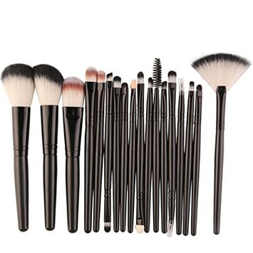 KaiCran Professional Brush 18 pcs Makeup Brush Set tools Make-up Toiletry Kit Wool Make Up Brush Set