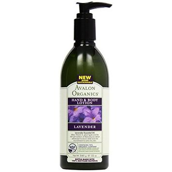 Avalon Organic Botanicals Hand and Body Lotion, Therapeutic, Lavender, 12 oz