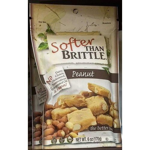 Softer Than Brittle Peanut, no gluten, no cholesterol vegan peanut snack 5.5oz, pack of 1