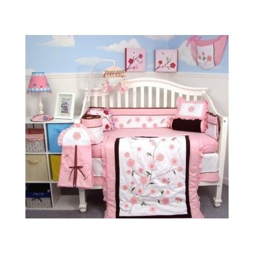 SoHo Dragonflies Garden Baby Crib Nursery Bedding Set 14 pcs included Diaper Bag with Changing Pad & Bottle Case