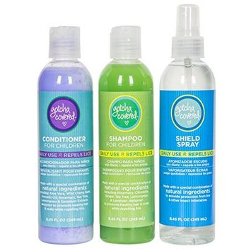 GOTCHA COVERED Head Lice Prevention Assortment - Shampoo, Conditioner, Spray Shield | 3 Bottles
