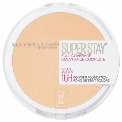Maybelline SuperStay Full Coverage Powder Foundation Makeup, Natural Beige0.21 oz