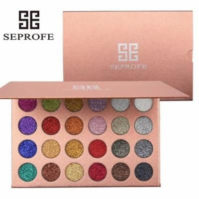Iuhan 24 Colors Mineral Pressed Glitter Eyeshadow Palette Professional Highly Pigmente
