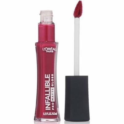 3 Pack - L'Oreal Paris Infallible Lip Pro Matte Gloss, Rebel Rose, 0.21 oz