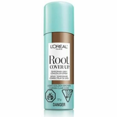 2 Pack - L'Oreal Paris Root Cover Up, Temporary Grey Concealer Spray, Light Golden Brown, 2 oz
