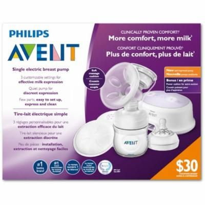 Philips Avent Single Electric Breast Pump with Power Cushion for Extra Suction SCF332/21 + Eyebrow Ruler