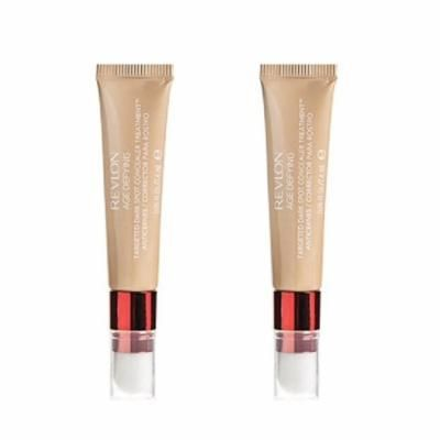 Revlon Age Defying Targeted Dark Spot Concealer, Medium Deep, 0.22 Oz (2 Pack) + Schick Slim Twin ST for Sensitive Skin + Eyebrow Ruler