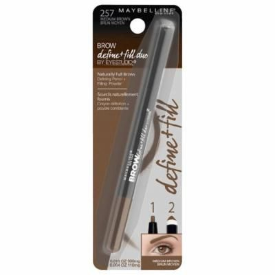 Pack of 2-Maybelline Define + Fill Duo Makeup, 257 Medium Brown0.02 oz