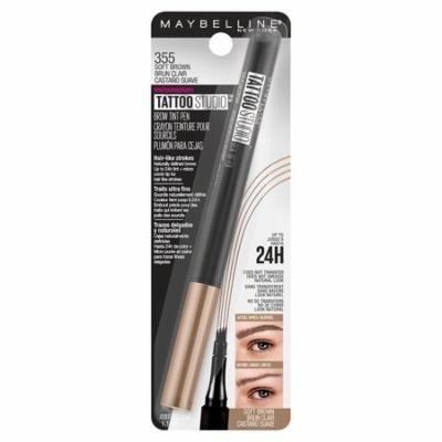 Maybelline TattooStudio Brow Tint Pen Makeup, 355 Soft Brown0.04 fl oz