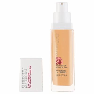 Maybelline SuperStay Full Coverage Liquid Foundation Makeup, Sand Beige1.0 fl oz