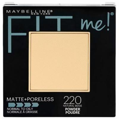 Pack of 3-Maybelline Fit Me Matte + Poreless Powder Makeup, Natural Beige0.29 oz