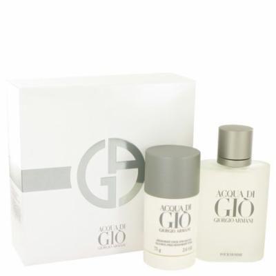 Acqua Di Gio Cologne By Giorgio Armani Gift Set - 3.4 oz Eau De Toilette Spray + 2.6 oz Deodorant Stick