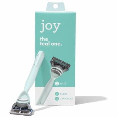 joy Razor, Handle + 2 razor blade refills (Teal)