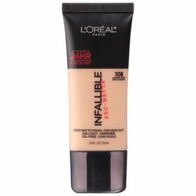 L'Oreal Paris Infallible Pro-Matte Liquid Foundation Makeup, Caramel Beige1.0 fl oz